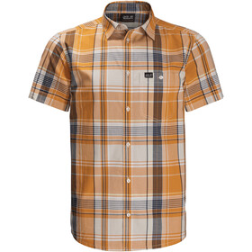 Jack Wolfskin Little Lake SS Shirt Men, amber checks
